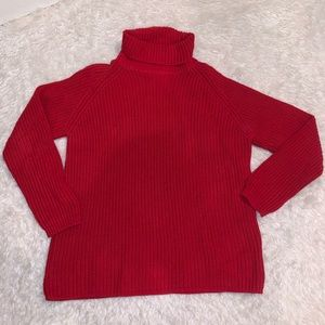 Vintage red turtleneck sweater m Eddie Bauer